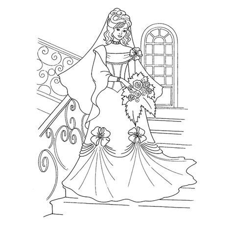 generic princess coloring pages coloriage jolie princesse en mari 233 e a imprimer gratuit