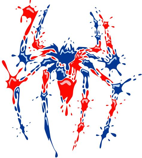 spider man logo paint by white tigress 12158 on deviantart