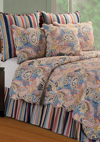 belks bedding quilts c f paisley blue quilt collection belk