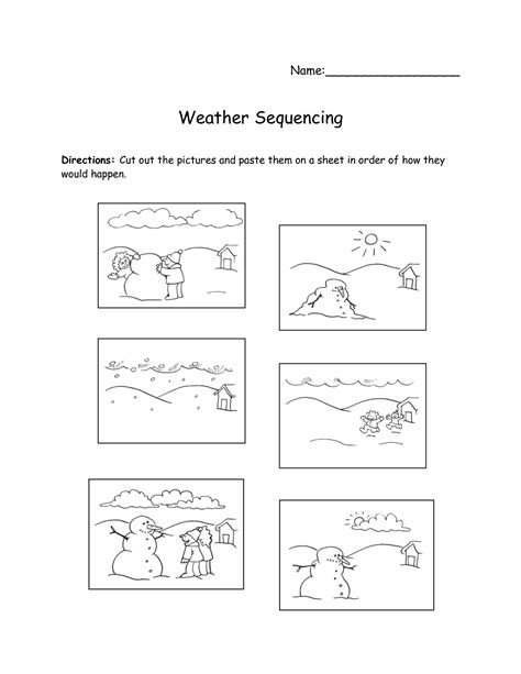 printable worksheets for kindergarten and 1st grade 8 best images of free sequencing printable preschool