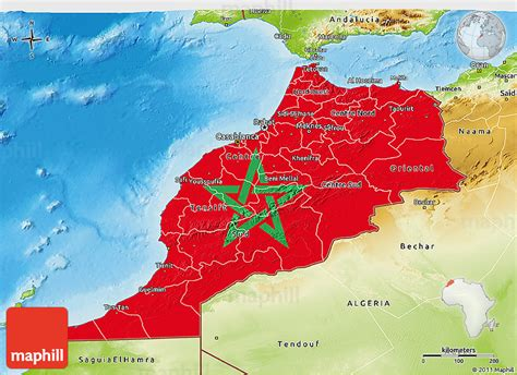 physical map of morocco flag 3d map of morocco physical outside