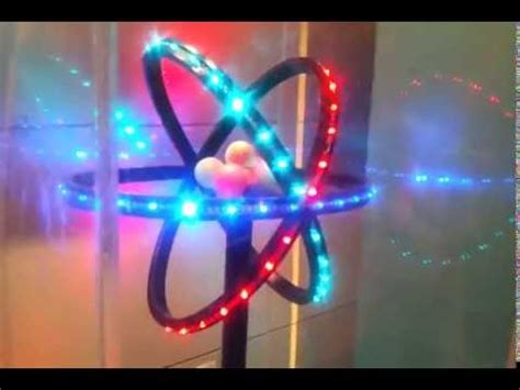3d atom model glowing with led youtube