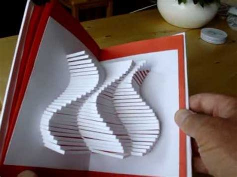 kirigami magic spinning card template easy way to make a magic spinning kirigami card