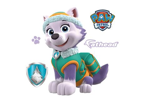 paw patrol everest small everest teammate decal shop fathead 174 for paw