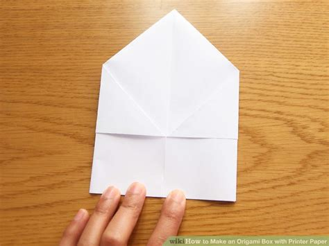 Printer Paper Origami - how to make an origami box with printer paper 12 steps