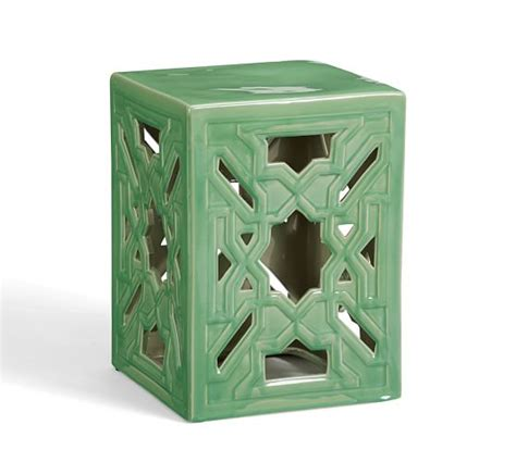 ceramic accent table punched ceramic accent table pottery barn