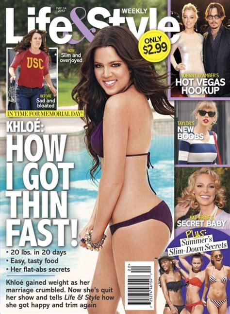 In Style Now How Got Slim Lifestyle Magazine 2 by Khloe Shows Trim After