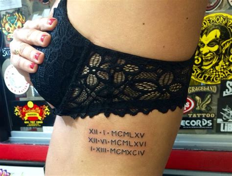 roman numeral tattoo on ribs 25 best ideas about numbers on