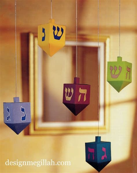 17 Best Ideas About Hanukkah Decorations On Pinterest Hannukah Love Blue And Menorah 3d Dreidel Template