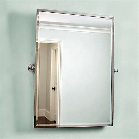 Amelie Rectangular Pivot Mirror Ballard Designs Pivot Mirrors For Bathroom