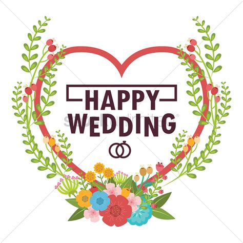 Happy Wedding Text Animation by Happy Wedding Vector Image 1797297 Stockunlimited