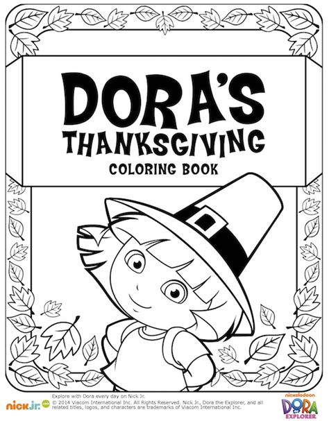 thanksgiving coloring pages nick jr dora thanksgiving coloring book kid s thanksgiving
