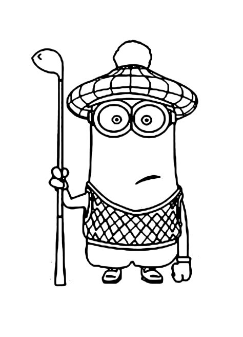 minion golfer coloring page free coloring pages of golfing minions