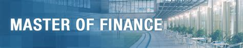 Mba Finance Schulich by Schulich Master Of Finance Program With Specialization In