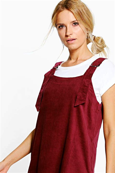 Dress Jumbo Diskon 1 boohoo womens julie jumbo rib d ring pinafore dress ebay