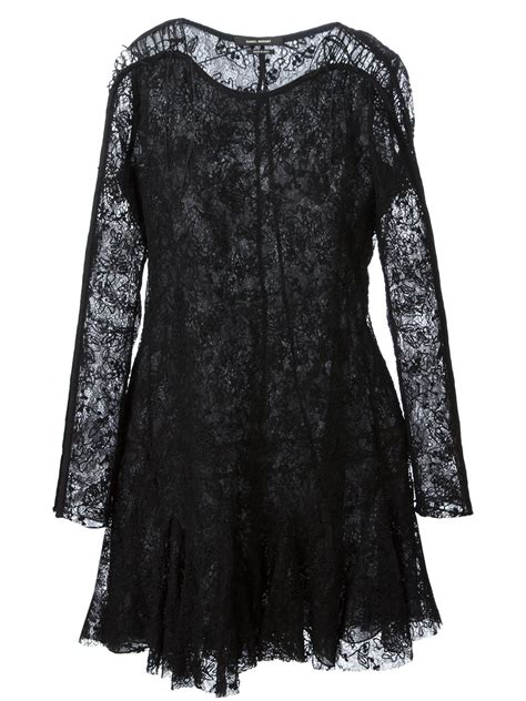 Dress Magda Black Flow marant magda lace dress in black lyst