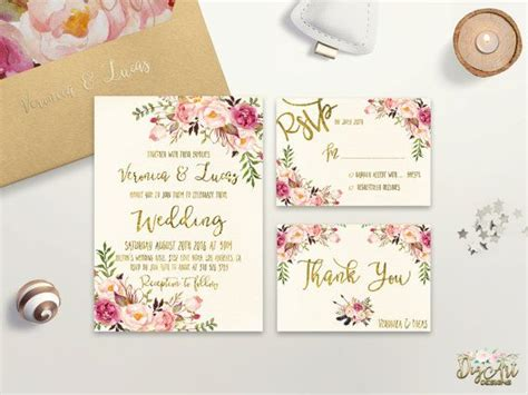 Floral Wedding Invitations by 17 Best Ideas About Floral Wedding Invitations On