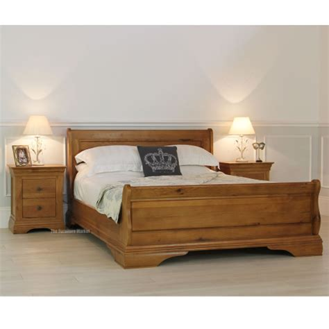 sleigh bed king size french farmhouse oak 6ft super king size sleigh bed
