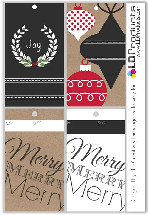 printable holiday tagswrapping paper  sign