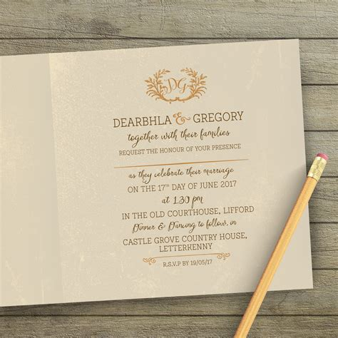 Unique Wedding Stationery by Nature Inspired Wedding Stationery Unique Wedding