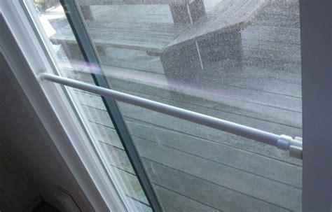 Build A Lock Bar For A Sliding Glass Door Protect Sliding Glass Door Burglary