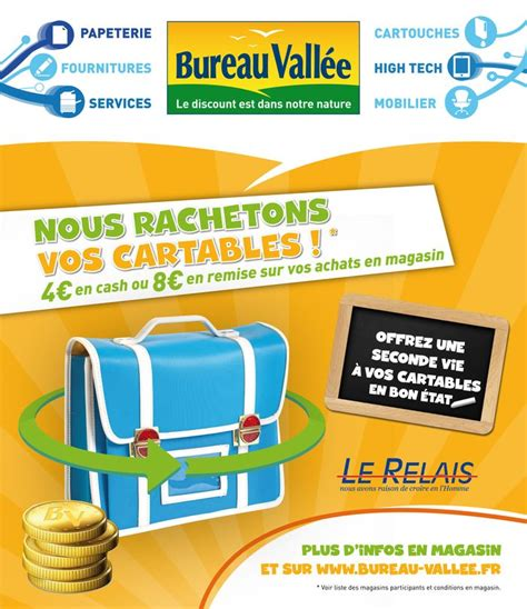 cartable de bureau franchise fournitures de bureau bureau valle recycle