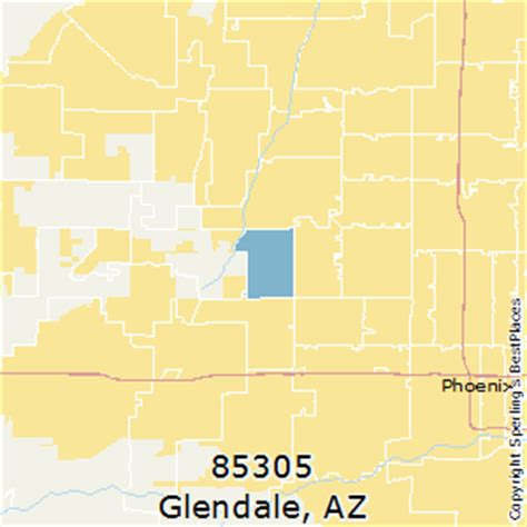 zip code map glendale az best places to live in glendale zip 85305 arizona