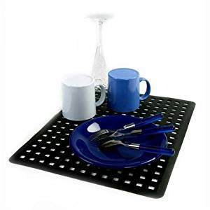 large black sink drain mat protector kitchen