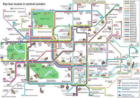 printable map london city centre london top tourist attractions map key bus routes by