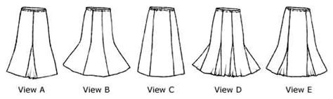 free pattern gored skirt loes hinse designs 5007 gore skirt