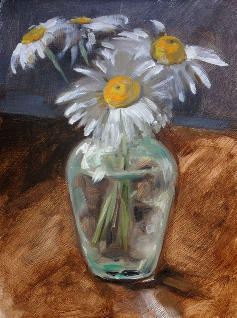 Painting A Vase by Daily Painting Of Daisies In A Vase