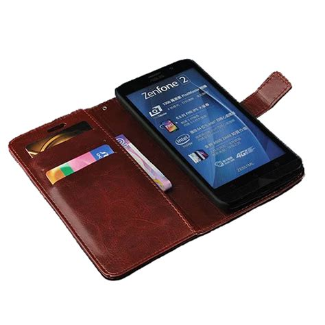 Leather Wallet For Asus Zenfone 5 Limited zen fone 2 ze551ml 5 5 quot fashion leather for asus zenfone 2 cover luxury flip phone holster