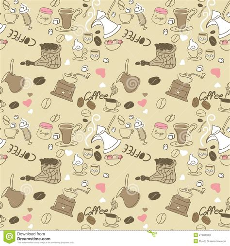 seamless pattern coffee seamless doodle coffee pattern cartoon vector