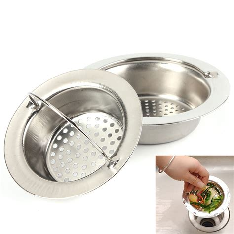 Portable Stainless Steel Sink Strainer Bathroom Kitchen Bathroom Sink Strainer