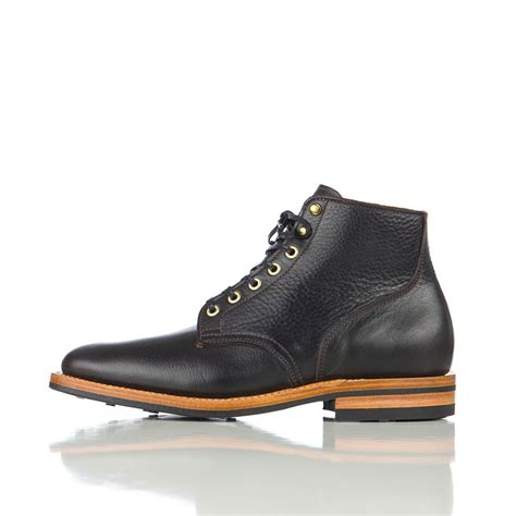 viberg boots viberg service boot in black brown tumbled leather in