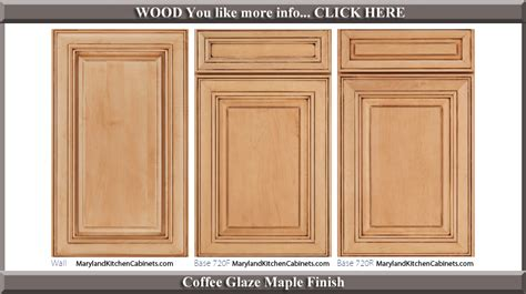 720 Coffee Glaze Maple Finish Cabinet Door Style Bathroom Cabinet Door Styles