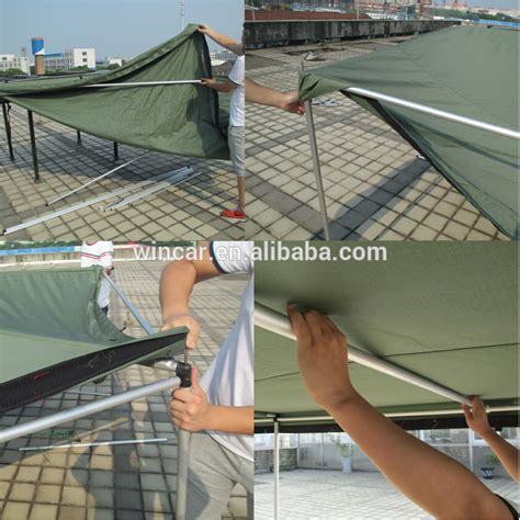 roof top awning car side awning aluminum pole oxford canvas retractable