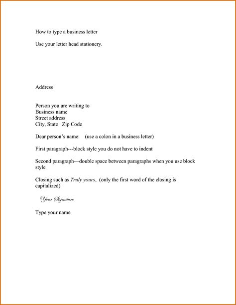 Official Letter Types 10 How To Type An Official Letter Lease Template