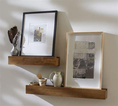 floating shelves pottery barn rustic wood ledges pottery barn