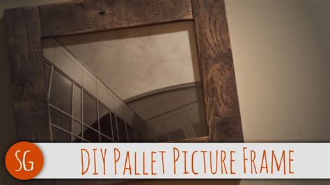 easy diy rustic wood picture frame