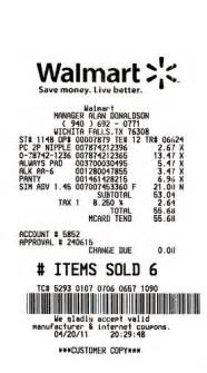 need walmart receipt template walmart sku number on receipt pictures to pin on
