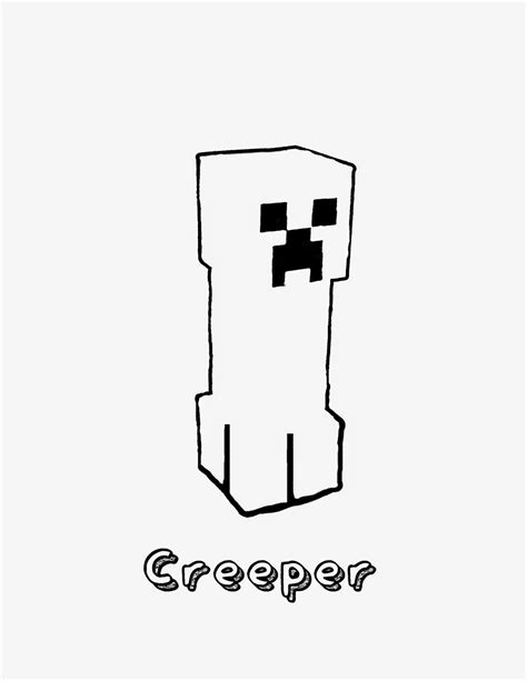 minecraft creepers free coloring pages