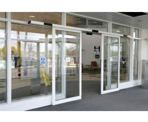 electronic doors slimdrive sl nt automatic sliding door system geze uk esi building design
