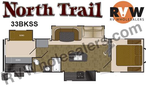 north trail rv floor plans 2015 heartland rv north trail 33bkss travel trailer the