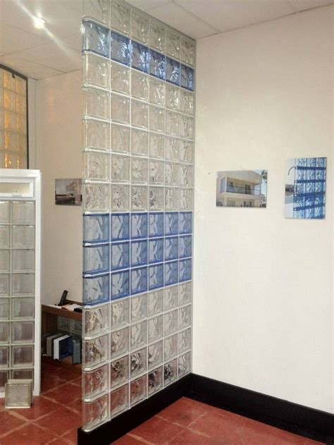 Glass Block Room Divider 27 Best Images About Wall Divider Shelf Glass Block Concrete Wood On Cobalt Blue