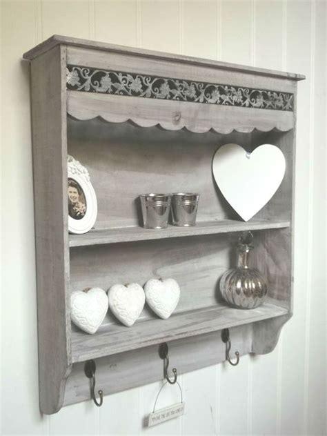 shabby chic hooks shabby chic wall unit shelf storage cupboard cabinet hooks