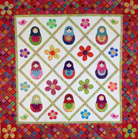 Doll Quilt Pattern by Matryoshka Nesting Doll Quilt Pattern Only Designed By Sew