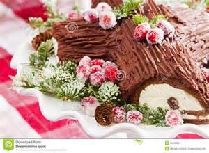 buche de noel cake stock images image 36245824