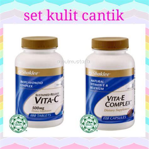 Vitamin Kulit E Promosi Set Kulit Cantik Vitamin C Vitamin E Ainul Mustafa