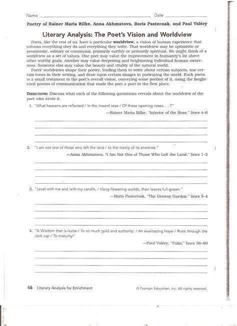 Poetry Analysis Worksheet Answers by Poem Analysis Worksheet Worksheets